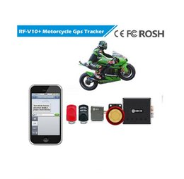 Wholesale Gsm Sms Remote Control - Professional GPS Motorcycle Tracker Quad Band GSM GPRS SMS Long Time Standby With 125DB Alarm and SMS Alert 5-15m Accuracy