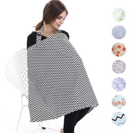 Wholesale Nursing Cloths - Nursing Cover Breastfeeding apron Infant Breathable Cotton nursing cloth Shipping Car Chair Covers outdoors feeding Maternity Tops
