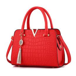 europäische beutelmuster Rabatt 2018 Neue Umhängetasche Europäische Und Amerikanische Mode Pu Handtaschen Krokodilmuster Damen Handtasche
