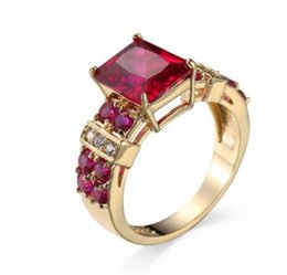 Canada Bague pour femme en argent 925 avec un diamant naturel rouge jade (12) taille 6 7 8 Offre