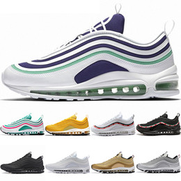 sale retailer caf33 dd129 Nike Air Max 97 Airmax the details page for more logo Pas cher 270  Chaussures De Course Hommes Femmes 270s Betrue Hot Punch Oreo Triple Noir  Blanc Volt ...