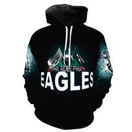 Hommes Hoodie Philadelphia Eagles 3D Full Print Homme Sweat à capuche Unisexe Casual Pull Hoodies Manches longues Sweats Tops (RL2713) ? partir de fabricateur