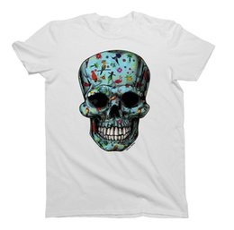e105f2aafe ladies shirts birds Coupons - Mens Ladies T-Shirt EXOTIC Bird Skull Fashion  Unisex Birthday