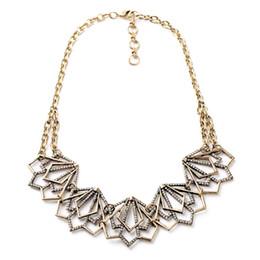 Wholesale Pave Link Chain Wholesale - whole sale2017 Frost Sharp Portico Crystal Pave Cutout Geometric Choker Necklace