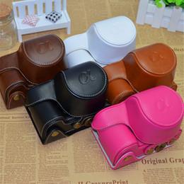 Bolso de la cámara de cuero de la PU para Sony A5000 A5100 A6000 A6300 Fundas de cuero de la PU de la vendimia cubren la bolsa de alta calidad 5 colores desde fabricantes