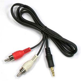 oro nakamichi Rebajas Cable de línea de audio 1M 3.5 mm estéreo a 2 RCA Y CABLE PARA PC DVD TV VCR Altavoces Cámara Video Cable de audio Cable