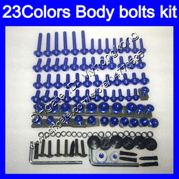 Wholesale 97 kawasaki zx7r - Fairing bolts full screw kit For KAWASAKI NINJA ZX7R 96 97 98 ZX-7R ZX750 ZX 7R 1996 1997 1998 1999 Body Nuts screws nut bolt kit 23Colors