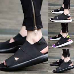 Wholesale Open Toe Platforms - Spring, summer, breathable sandals male han edition sports leisure ultra boost peep-toe platform antiskid beach slippers Roman couples