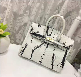 Wholesale american drew - 25CM 30CM 2018 Big Brand Designer Serpentine Totes With Lock Cowhide Genuine Leather Shoulder bags drawing Pattern women Free Shipping