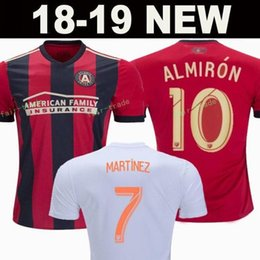 046072d6c49 man united jerseys 2019 - Atlanta United FC Men Red Home White Soccer Jersey  Miguel Almiron