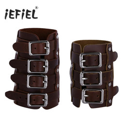 Medieval Adjustable Leather Gloves Outdoor Arm Leather Gloves Cosplay Bracers