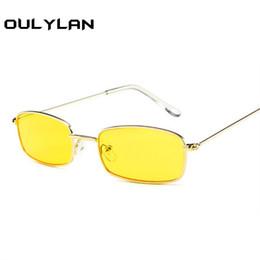 86382fad18 Oulylan Metal Sunglasses Men Women Vintage Small Rectangle Sun Glasses  Female Retro Glasses rave festival Shades Eyeglass UV400