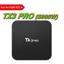 Canada Android 7.1 Smart TV Box Amlogic S905W Quad Core 1GB 8GB TX3 Pro 1G Mini PC Wifi 4K Maison 3D Media Player Décodeur Offre