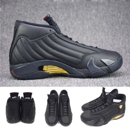 Wholesale Basketball Package - High Quality 14 14s DMP Basketball Shoes Men Black Gold Deigning Moments Package 98 Sneakers With Shoes Box XZ118