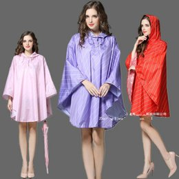 Wholesale Cloak Raincoat - Cloak Style Women Lightweight Poncho With Hood Colorful Waterproof Raincoat Adults Outdoor Bicycle Rainwear