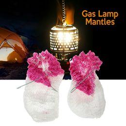 2018 2pcs lámpara que acampa al aire libre lámpara de la linterna mantos Lampwick tienda de campaña que acampa linterna de gas mantos cubierta de la lámpara gasa invertida mantos desde fabricantes