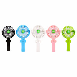 Wholesale Electric Hand Fans - Clearance Sale Foldable Hand Fans Rechargeable Handheld Mini Fan Electric Personal Fans Hand Bar Desktop Fan Cheapest 2017 New