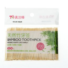 restaurant products Coupons - 200Pcs Disposable Wood Tandenstokers Dental Natural Bamboo Toothpick For Home Restaurant Hotel Products Toothpicks Tools