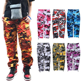 justin bieber zipper pants Coupons - New Fashion Camo Cargo Pants Women Men Joggers Sweatpants Justin Bieber Hiphop Streetwear Military Camouflage Outdoor Pant Trousers BFSH1001