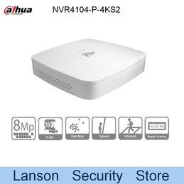 Wholesale Udp Dns - Dahua 4K NVR4104-P-4KS2 Original Egnlish Version 4 Channel Smart 1U 4PoE 4K&H.265 Lite Network Video Recorder