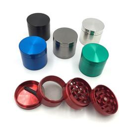 Wholesale Cnc Hand - 40mm Pepper grinders metal 4 layer hand muller tobacco grinder Zinc alloy CNC teeth grinders 6 colors herb grinders MK283