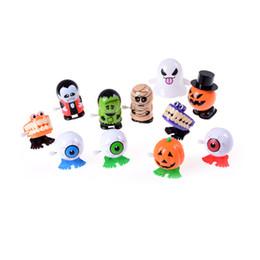 Wholesale Eyeball Halloween - 1pcs Halloween Pumpkin Jumping Eyeball Halloween Toys Children's Toys Terror Toy Jumping Prank Gadget Wind-up