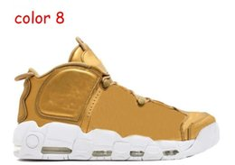 Wholesale China Wholesale Fallen Shoes - Cheap Best Air More Uptempo SUPTEMPO Basketball Shoes OLYMPIC RELEASE Bulls Gold Varsity Maroon Black Mens Scottie Pippen Sale From China