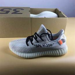 Wholesale Custom Bodies - FREE Shipping 350 V2 Boost Custom Off Kanye West Sply 350 V2 Real Boost Sneakers New Custom Cream Boost Shoes on Sale