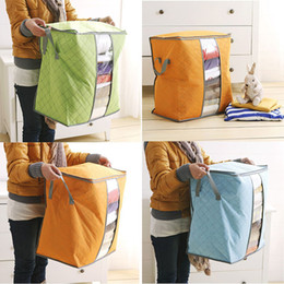 Wholesale Storage Cases For Clothes - Non Woven Storage Bags for Toys Clothing Blanket Pillow Quilt Folding Bedding Storage Box Case Home Closet storage Bag for Kids Family C4055