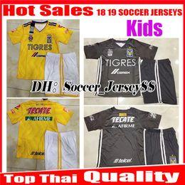 c602bf3d19f45 kits jersey méxico Rebajas Niños 2018 2019 Tigres UANL kits niños camiseta  de fútbol kit 18