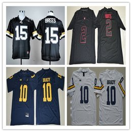 Wholesale American Drew - Drew Brees jerseys best Quality NCAA Purdue Boilermakers Mens #15 Retro College American football shirt 10 tom brady Throwback 2 Jalen Hurts