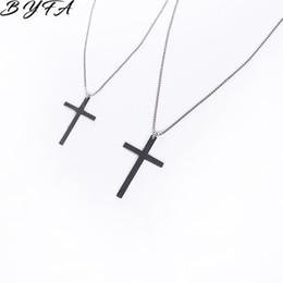 i bambini attraversano le collane Sconti 1pc Trendy semplice croce pendente collana donna ragazza bambini mini ciondolo fascino gioielli colore argenteo crocifisso ornamenti cristiani