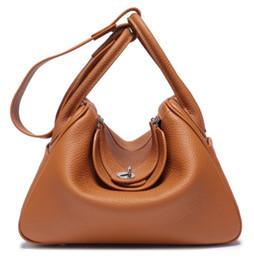 2019 grossistes en selle SUPERB tout neuf Top qualité femmes véritable motif de litchi cuir de vachette en cuir médecin sac à bandoulière sac fourre-tout sac à main dd0101
