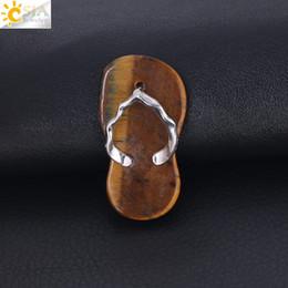 CSJA Ametist Kırmızı Oniks Kolye Kolye Güzel Flip Flop Ayakkabı Yaz Sandal Düz Boncuk Kolye Kız Erkek için El Yapımı Charm Takı F332 B cheap sandals flat bead nereden sandalet düz boncuk tedarikçiler
