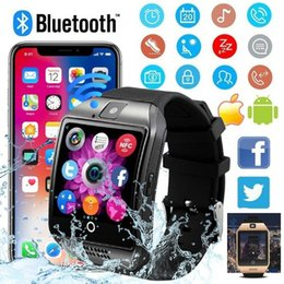 digital touch watches for men Promo Codes - 2018 Q18 Bluetooth Smart Watch Smart Bracelet With Touch Screen TF Sim Card Camera Men Smartwatch for Android Phone