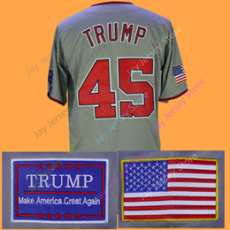 Wholesale Baseball Jerseys Washington - 45 President Donald Trump Jersey Baseball New York Washington