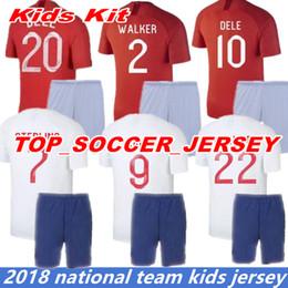 Wholesale england world cup jerseys - 18 19 World Cup soccer Jersey england kids kit ROONEY home Away KANE STURRIDGE STERLING HENDERSON VARDY 2019 home away football shirt