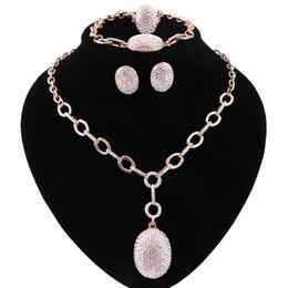 2019 oro etioco Set di gioielli per le donne Set di gioielli di perle di cristallo damigella d'onore pieno di cristalli d'oro etiope gioielli da sposa sconti oro etioco