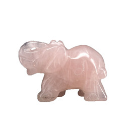 Wholesale carved stone figurines - Wholesale of all kinds Natural Healing purple fluorite Elephant Pocket Carved Gemstone Crafts Crystal Animal Totem Spirit Stone Figurines