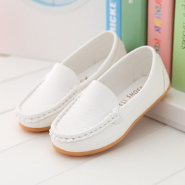 Wholesale winter shoes for kids boys - 2017 Children Shoes Hollow2018 White Sneakers For Girls And Boys Kids Casual Spring Summer Leather Shoes