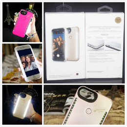Wholesale Iphone Back Side - For IphoneX Iphone8 Samsung Cell phone Cases Double Sides LED Light Selfie Back Cover For iphone 7 6 6s plus Samsung S8