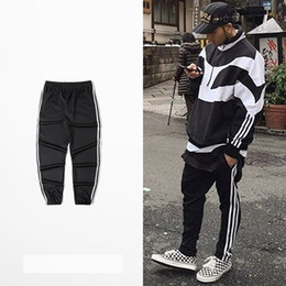 Wholesale harem pants dark red - Wholesale-Hot! 2018 New Brand Mens Joggers Casual Harem Sweatpants Pants Men Bottoms Track Jog ging Trousers+