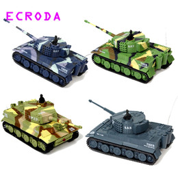 Wholesale Remote Controlled Electric Toy Tanks - ECRODA Stock brand new TIGER RC Battle Tank 14CH 1:72 Scale Remote Control Simulated Panzer Mini Tank Children Toys Gift