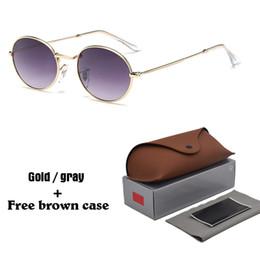 2019 berühmtheit sonnenbrille frauen Retro Oval Sonnenbrille Männer Frauen Markendesigner Legierung Rahmen UV400 Objektiv Promi Brillen Vintage Sonnenbrille mit Fällen und Box rabatt berühmtheit sonnenbrille frauen
