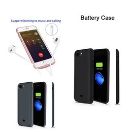 Wholesale Battery Pack Case For Iphone - For iphone 7 8 power bank Battery Case With Audio Power Charging Case Pack ,Support Lightning Port Headphones,Portable Extended Charger