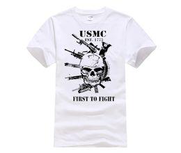 Estilo DIY dos homens camisetas Moda USMC Camiseta Marines Semper Fidelis  Cão Demônio Fi Semper Fi Camisas Militares veteranos Tees usmc military à  venda 8919f8986212d