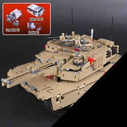 Wholesale Military Model Building - Lepin 20070 1572Pcs Genuine Technic Series The RC Tank Set Genuie Military War Series Building Blocks Bricks Toys Model for boys