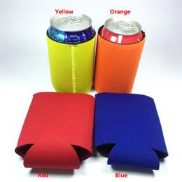 10 * 13cm maniche sottili lattine lattine per bevande in neoprene con coperchio inferiore della tazza della birra Custodia 4 colori FHH7-1161 da