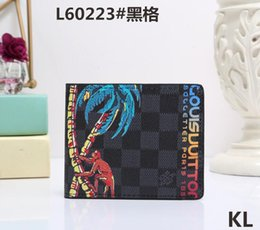 Wholesale new phone 16 - 2018 Male luxury wallet Casual Short designer Card holder pocket New Fashion Purse wallets for mens wallets purse with tags free shipping 16