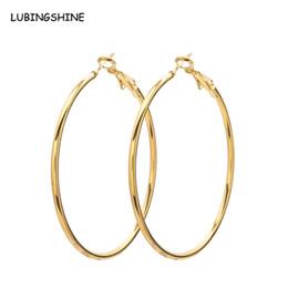 Wholesale Large Round Fashion Earrings - whole sale4 5 6 7 8 9 10cm Diameter Personality Large Round Earrings Gold Silver Fashion Jewelry Wholesale Large Hoop Earrings JJAL E465